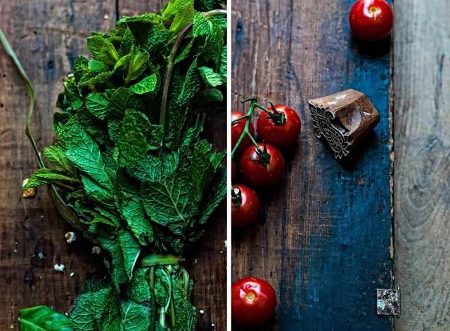 tomatoes/mint