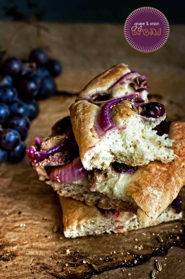 grape and onion bread