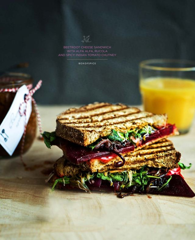 beetroot sandwich