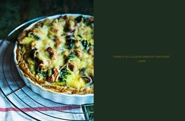 Brocolli Spinach Tart