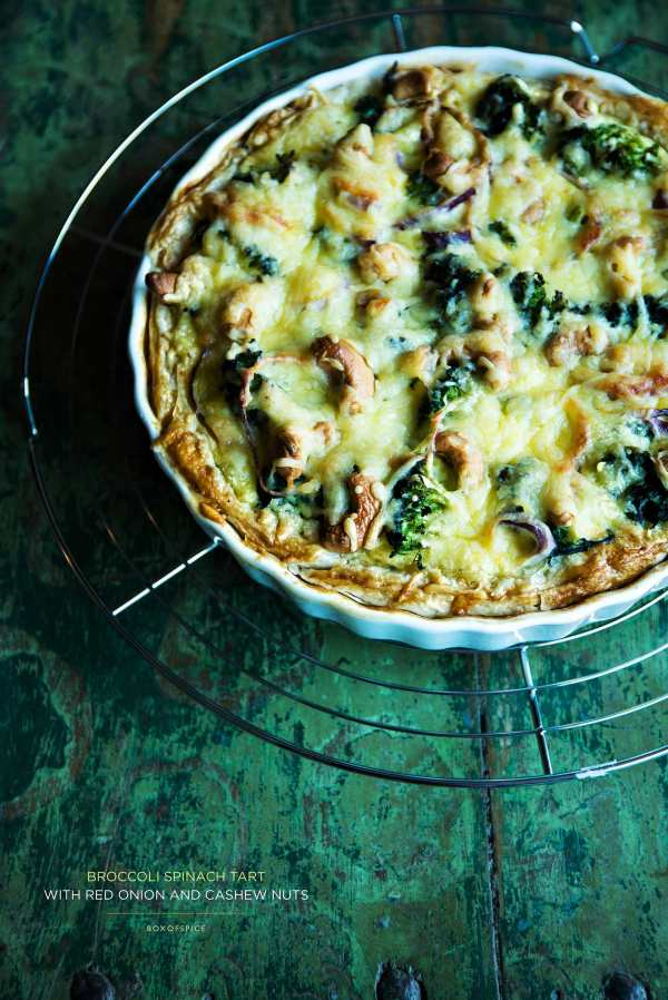 Brocolli Spinach Tart