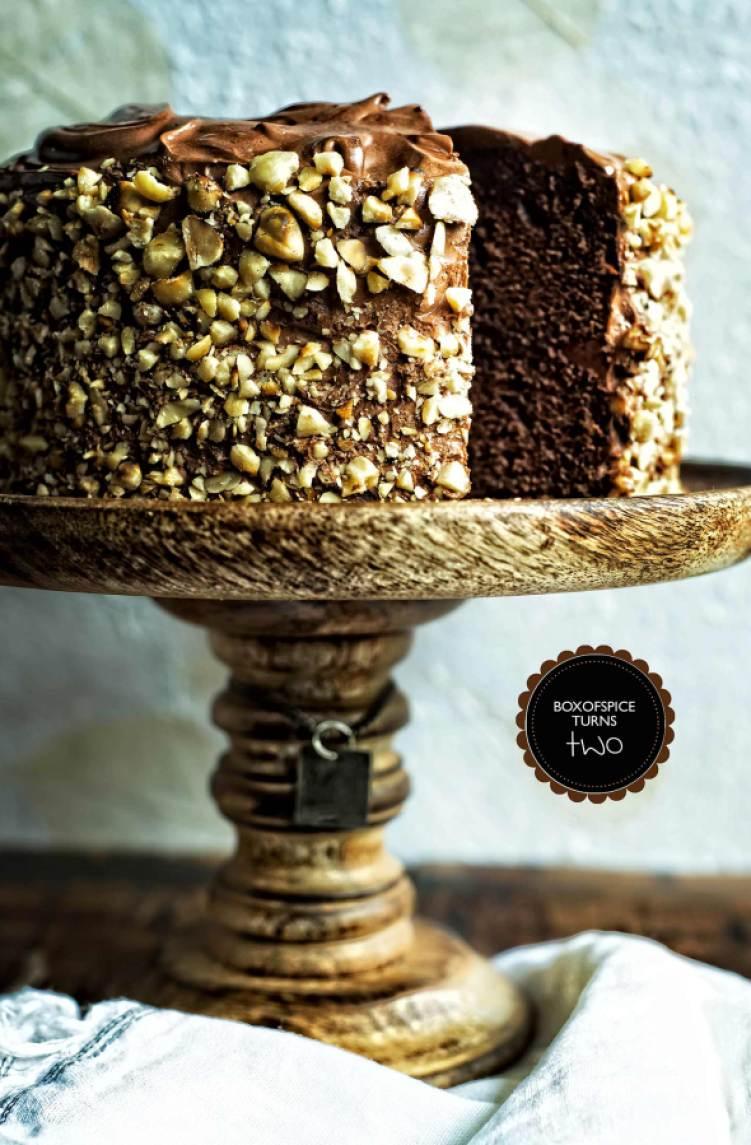 Chocolate Kahlua Hazelnut Cake + BOXOFSPICE Turns Two ...