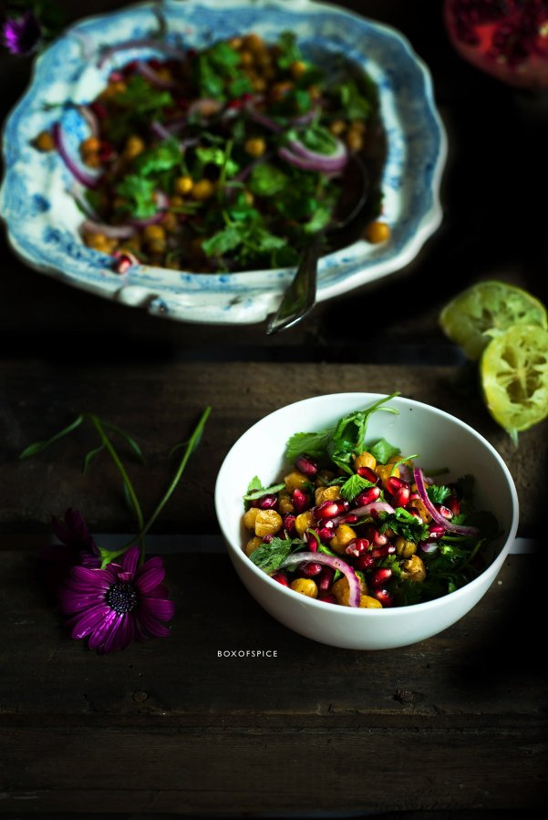 chaat masala chickpeas