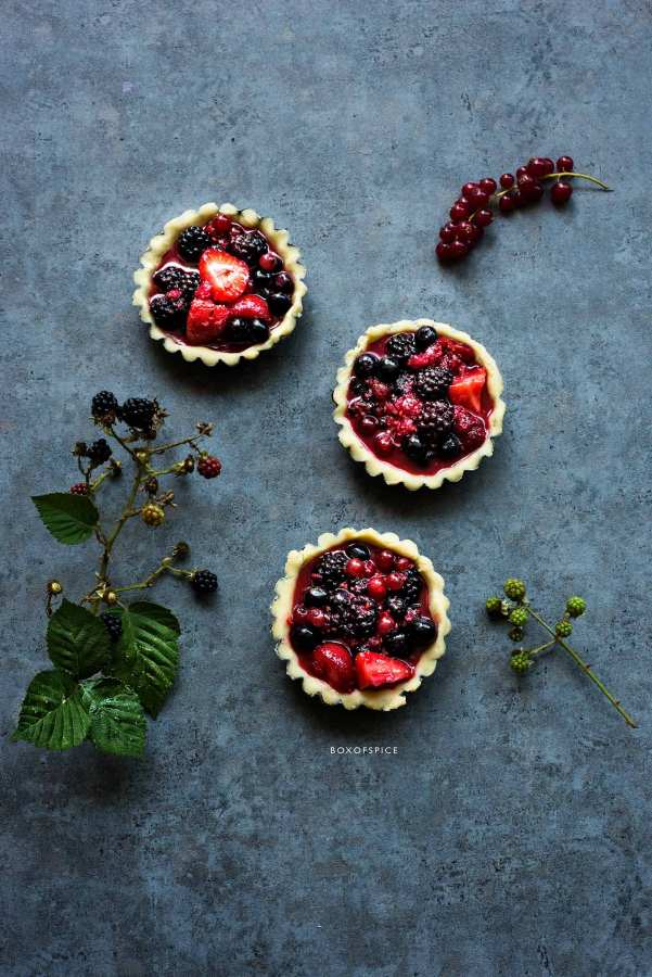 Mixed Berry Tartlets I Boxofspice