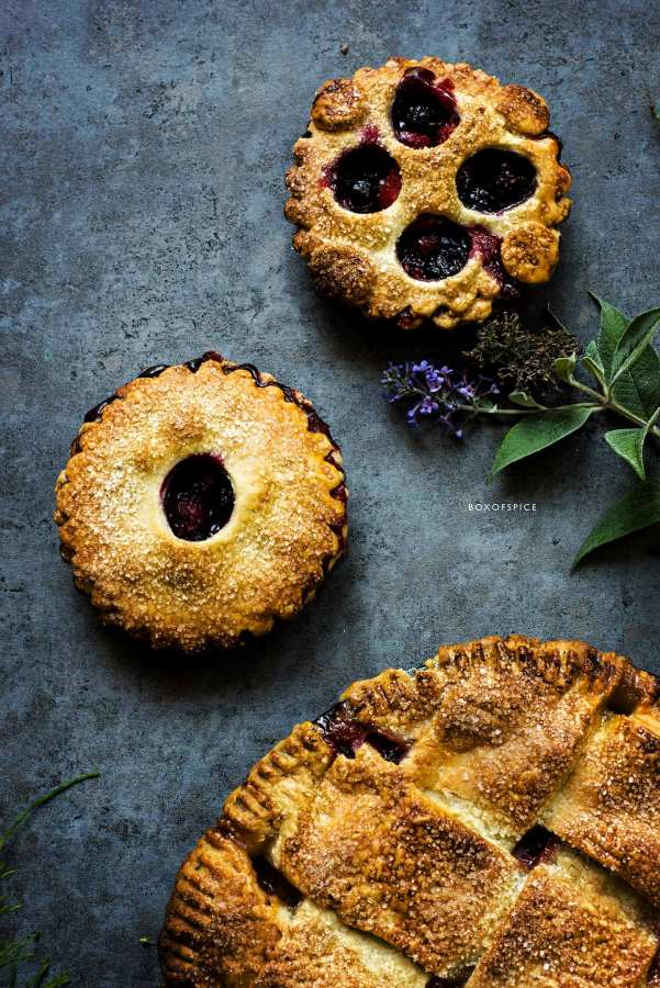 Plum Pie and Berry Tartlets I Boxofspice
